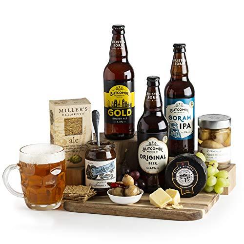 Plougmans Beer and Cheese Hamper - Beer Hampers - Real Ale and Cheese Gift Basket & Hampers - Beer and Cheese Hamper