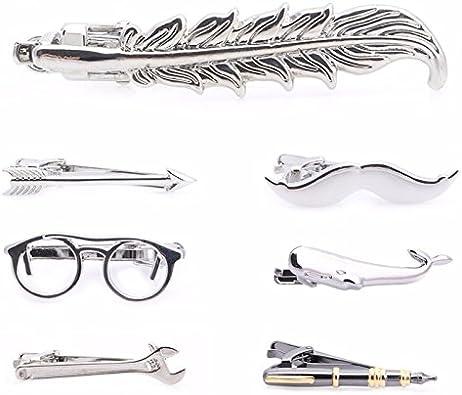 Modelos buscados y originales Ideas de regalo de Navidad Ducomi Laplace Accesorio de estilo y moda Alfiler de corbata para hombre con acabado plateado