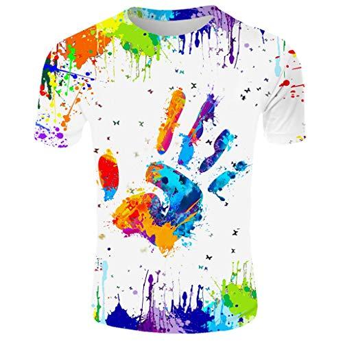 Herren T-Shirt Kurzarmshirt Top Print Shirt Casual Basic O-Neck Oversize Herren Vintage T-Shirt Verwaschen V-Neck Basic V-Ausschnitt Shirt Sommer T-Shirt Rundhals Ausschnitt Slim Fit Baumwolle