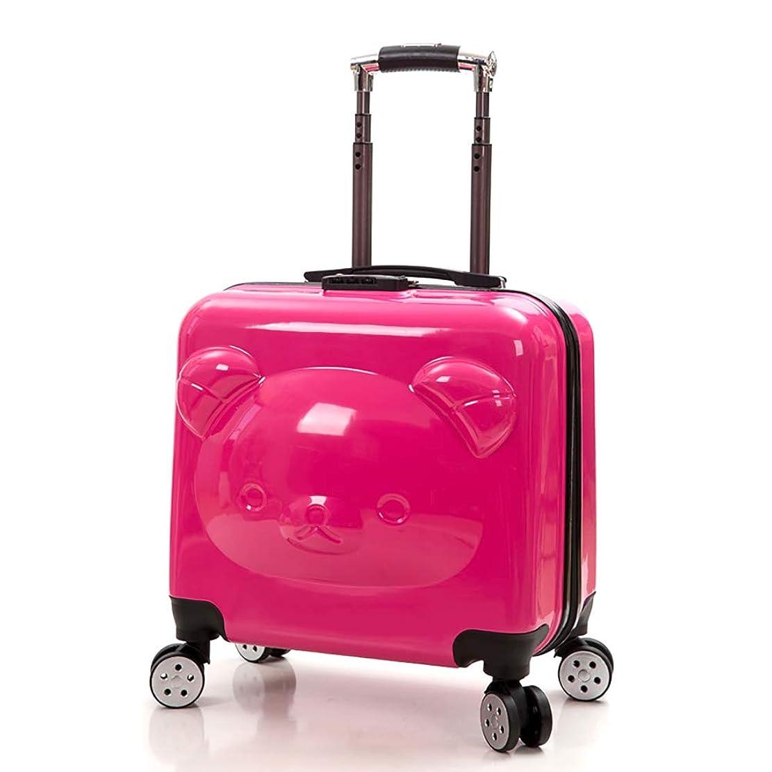 後継バケット留まるSHINING スーツケース 機内持込 軽量 人気色 鏡面 キャリーバッグ 可愛いくま 360°回転消声ダブルキャスター ファスナー式 キャリーケース 5色選択可