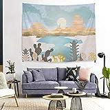 N/ A Mandala Tapisserie Chambre Chambre décoration Fond Suspendu Tissu Coucher de Soleil Peinture à l'huile célèbre Peinture Tapisserie (70 * 100 CM Mince brossé)