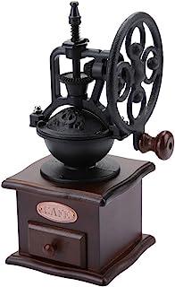 مطحنة حبوب القهوة اليدوية مع قلب السيراميك للحرق خمر قابل للتعديل باليد الفلفل والتوابل الرئيسية آلة تجليخ