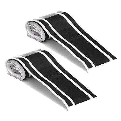 Lopbinte 2 unids 72 pulgadas x 3 pulgadas DIY negro coche cuerpo vinilo carreras raya Pinstripe pegatinas nuevo