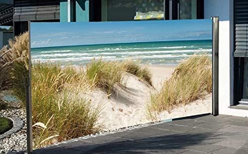 Nativ Seitenmarkise mit Fotodruck Ostsee Auszug Links, 180 cm hoch