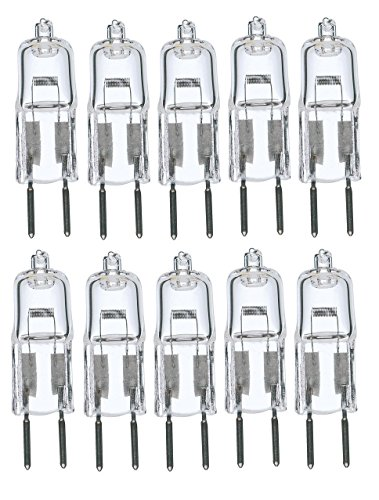 10Pack, 35 Watt 35W 12V 12 Volt G6.35 Bi-Pin JC Type Halogen Light Bulb GY6.35