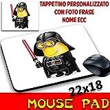MyCust Mouse Pad Minions Banana Mauspad mit Foto