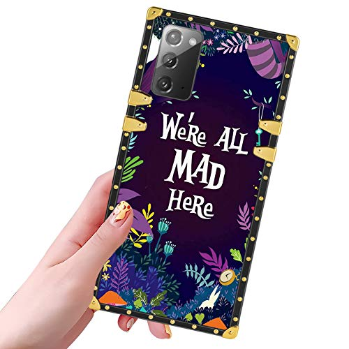 DISNEY COLLECTION Samsung Galaxy Note 20 Case Alice in Wonderland Pattern Design Glitter Golden Slim Cool Shockproof Bumper Protective Galaxy Note 20 Cover 6.7 Inch 2020