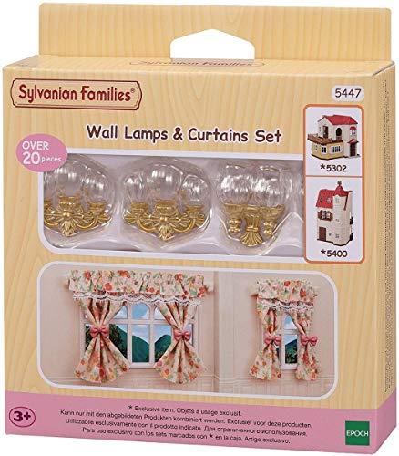 SYLVANIAN FAMILIES- Set lampade da Parete e Tende Accessori casa delle Bambole, 5447