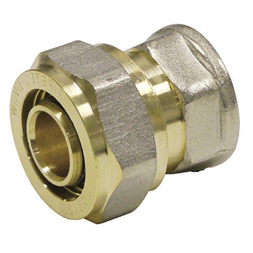 Pipetec Schraubfitting Übergang 16x2 mm 1/2 Innengewinde für Mehrschicht-Verbundrohr, DVGW, UBA-konform, bis max.100°C