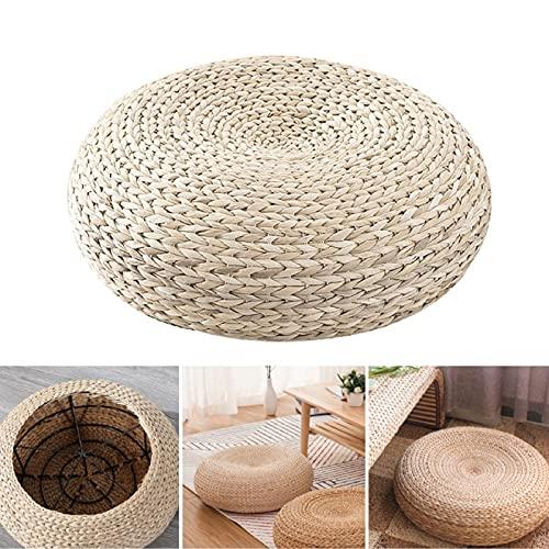40 x 40 cm Floor Cushion, Tatami Floor Cushion, Seat Cushion, Round Straw Cushion for Home, Patio, Balcony, Tables