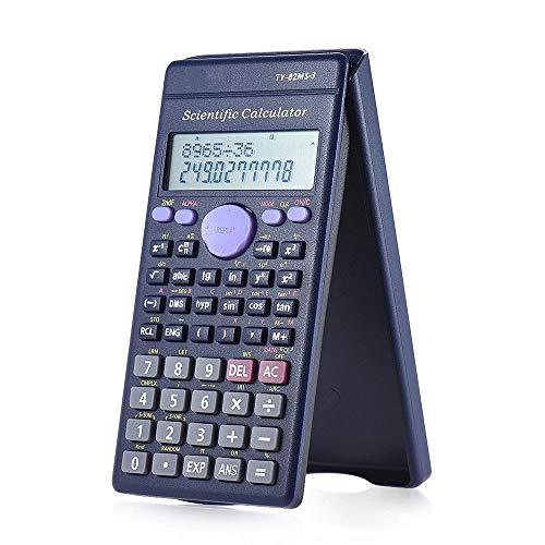 HO-TBO Calculator, wetenschappelijke rekenmachine teller 240 functies 2 lijn LCD-scherm zakelijke kantoor middelbare school student zwart ideaal gereedschap voor tellen