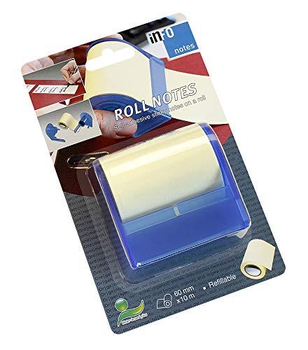 Roll Notes Haftnotiz-Spender mit 2 integrierten Abrißkanten, Rolle 60 x 10000mm, pastellgelb