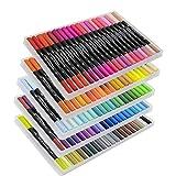 Best Coloring Brush Pen Sets - VITOLER Dual Brush Pens Art Markers Set, Fine Review