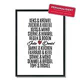 Personalisiert Keks & Krümel - Topf & Deckel   Poster   A4   A5   Hochzeit   Verlobung   Liebe   Traumpaar