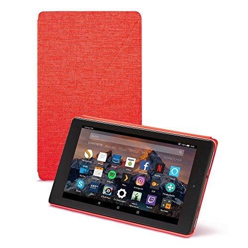 Amazon Fire HD 8-Hülle (8-Zoll-Tablet, 7. und 8. Generation - 2017 und 2018), Rot
