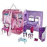 Mattel X3706 - Barbie Die Prinzessin & der Popstar Schlafzimmer und Bad, zusammenklappbar, mit viel Zubehör -
