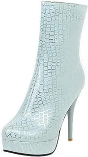 MisaKinsa Women Vintage Stiletto Heels Autumn Boots Zipper