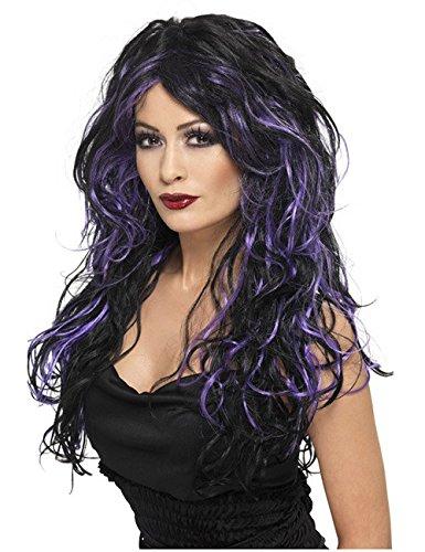 Gothique Vampire Bride perruque noir/violet