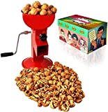 Hand Crank Walnut Cracker - Compact and Adjustable Nutcracker For Nuts - Easy to Use Walnut Cracking Machine - All Steel Nut Crackers for Walnuts (Red)