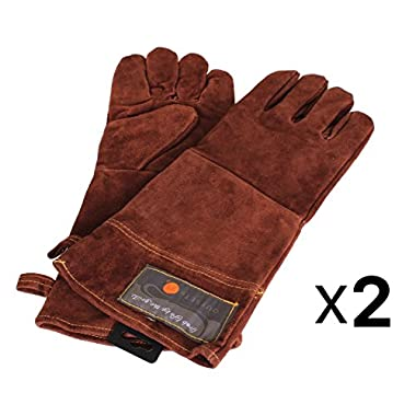 Outset F234 Leather Grill Gloves, 2 Pair