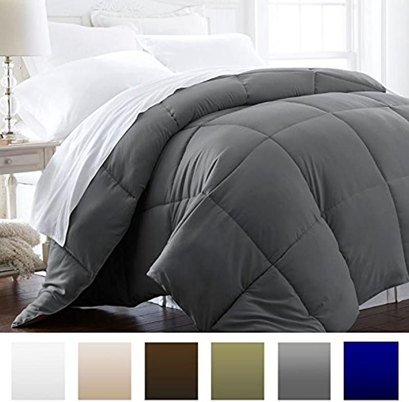 Beckham Hotel Collection 1600 Series Lightweight Luxury Goose Down Alternative Comforter Hotel Quality Comforter And Hypoallergenic King Cali King Slate Gray