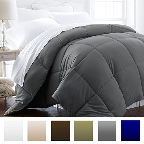 Beckham Hotel Collection 1600 Series - Lightweight - Luxury Goose Down Alternative Comforter - Hotel Quality Comforter and Hypoallergenic - King/Cali King - Slate Gray