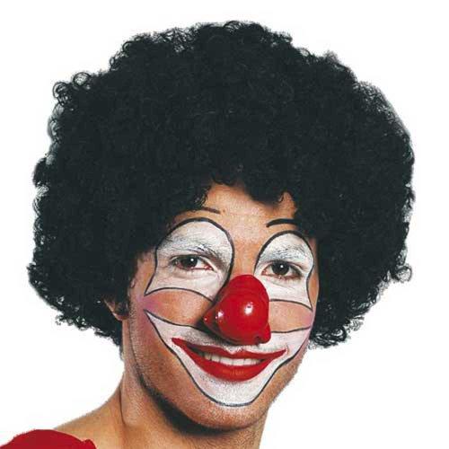 Perruque de clown - couleur noire