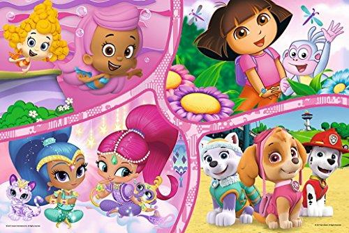 TREFL–Paw Patrol, Dora y Friends, Shimmer y Shine Maxi Puzzle bajo Licencia Nickelodeon 24Piezas, 14260u