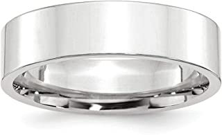 10 K Blanco Oro 6 mm Standard Flat Comfort Fit Band Ring – Anillo Tamaño opciones gama: H a Z