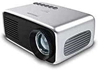 Philips NeoPix Start+ Mini Video Projector, 650 Led Lumens, 60 Inch Display, Built-in Media Player and Battery, HDMI, USB,...