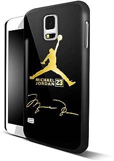 Michael Jordan Treasure in Gold Logo for iPhone and Samsung Galaxy Case (Samsung Galaxy S5 black)