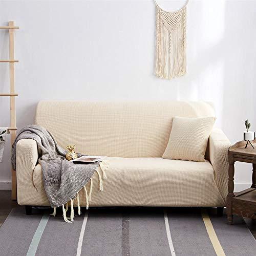 Asiento Forro de Sofá Doméstico blanco 1 plaza, protector grueso, fundas de sofá impresas sólidas para sala de estar, funda de sofá, funda de sofá de esquina, en forma de L, 90-140 cm 1 PCS