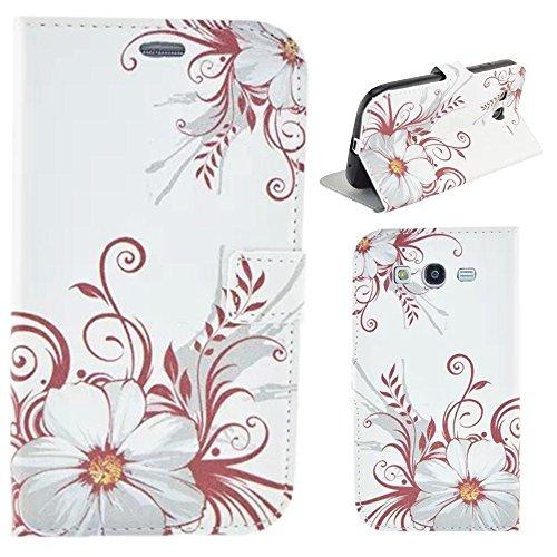 HUANGTAOLI Protettiva Cuoio Flip Case Cover per Samsung I9060i Galaxy Grand Neo Plus