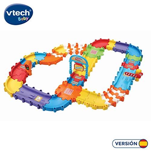VTech- Pistas con tramos TutTut Bólidos Set de Piezas Flexibles para Formar más de 6 circuitos Diferentes, se Pueden conectar con el Resto de playsets, Color (3480-524422)
