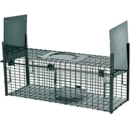 PROHEIM Lebendfalle Secure-S 53 cm - zuverlässige & sichere Tierfalle mit 2 Eingängen - sofort einsatzbereit & wetterfest - Rattenfalle mit Bissschutz -...