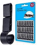 Helmet Clips for Headlamp, Hardhat Headlamp Clips, Easily Mount Headlamp Hook on Helmet, Safety Cap Strap Accessory (32 pack)