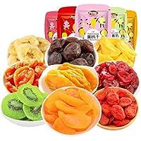 LJQ Combinación Seca Fruta confitada Frutos Secos Mango seco melocotón, Frutos Secos, Fruta escarchada, Snacks Mixtos, Paquete de Regalo (844G)
