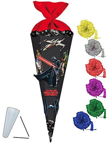 alles-meine.de GmbH komplette Füllung - Circa 200 Teile - für BASTELSET Schultüte -  Star Wars / Darth Vader  - - incl. Schleife - mit / ohne Kunststoff Spitze - Zuckertüte - i..
