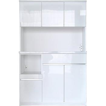 セル 120 オープンボード 食器棚 (ハイホワイト)