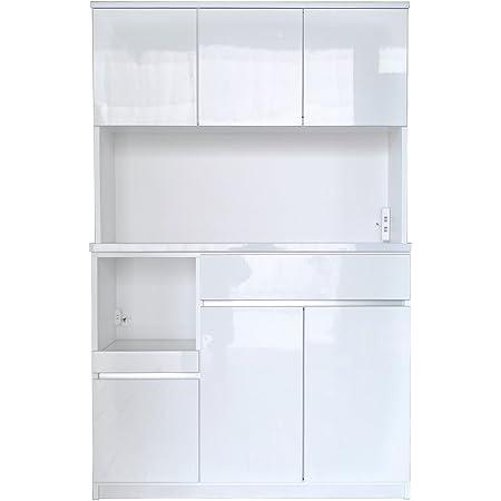 セル 120 オープンボード 食器棚 (モイス付) (ハイホワイト)