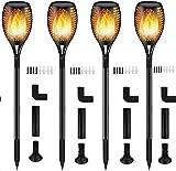 Luces Antorchas Solares, Luces Solar Jardín Exterior Antorcha con Llamas 96 LED Impermeab...