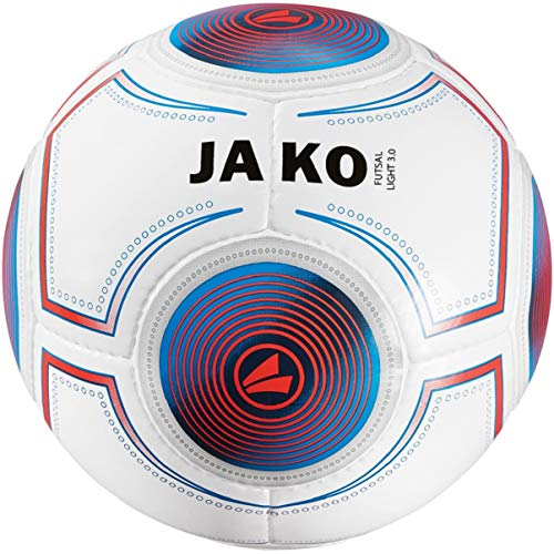JAKO Herren Ball Futsal Light 3.0, 360g, 4, weiß/JAKO blau/flame-360g