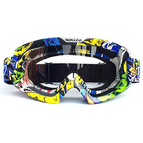 Hdggzkm motorrijder met offroad-bril windbeschermingsbril anti-twist-bril skibril uitgerust