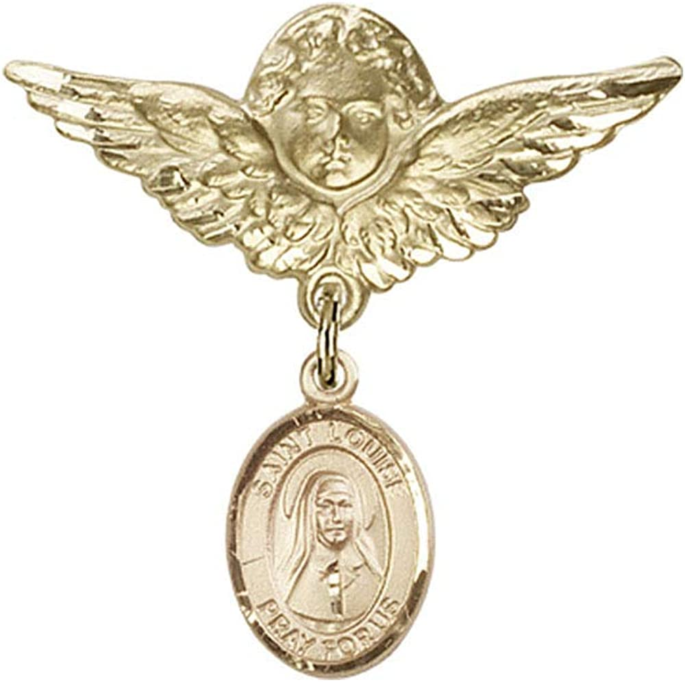 100% quality warranty Baby Badge 14kt Gold badge with New color de St. Louise Marillac Charm