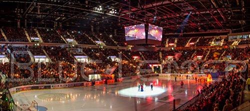 Blue-Letter Düsseldorf Eishockey Intro – hochwertiger FineArtPrint (120 cm x 50 cm)