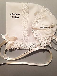Park Avenue Filigree Lace Handkerchief Bonnet – Antique White