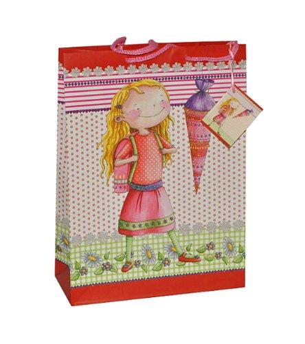 alles-meine.de GmbH Geschenkbeutel / Geschenktasche Mädchen klein - Schulanfang Schuleinführung Geschenktüte Tüte Beutel Tasche