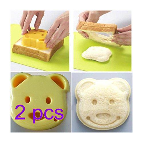 TaoNaisi 2 x DIY Bär Keks Kuchen Toast Brot Hersteller Werkzeug Cutter für Brot