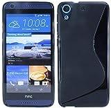ENERGMiX Silikon Hülle kompatibel mit HTC Desire 626G Tasche Hülle Gummi Schutzhülle Zubehör in Schwarz