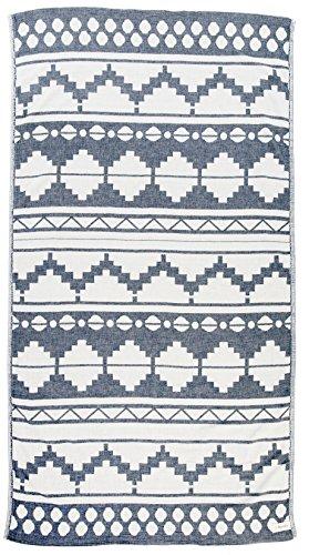 Bersuse 100% Baumwolle - Baja Strandtuch - Dunkelblau 100% Cotton Baja Dual-Layer 39x70 inches